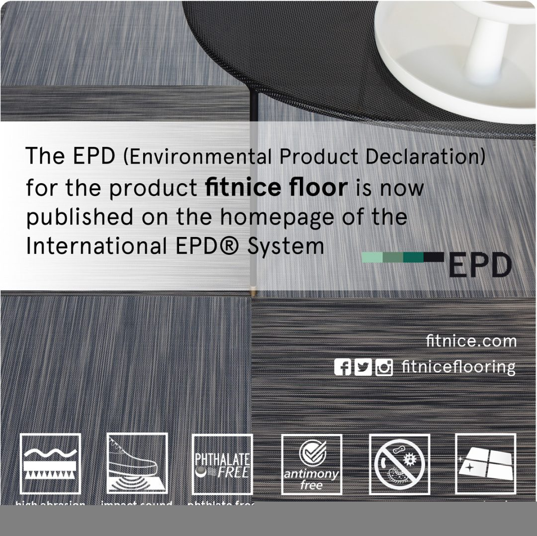 The EPD for the Fitnice® Floor is now published